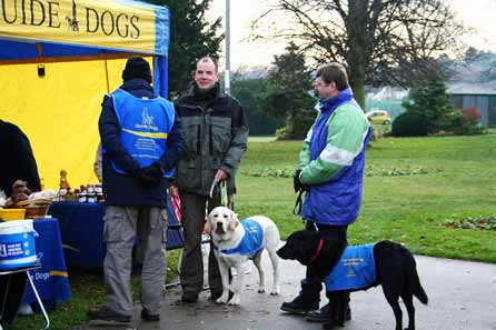 Harry at the Guide Dog stand