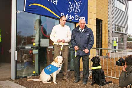 Harry with Geoff Cope and working Guide Dog Kemp