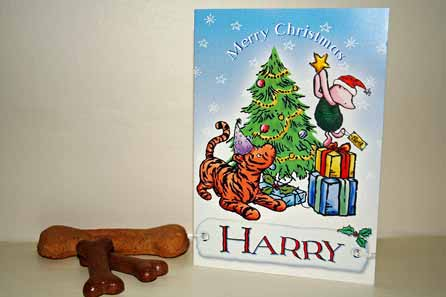 Harry's Christmas card and biscuits for the reindeer